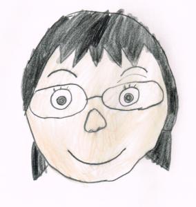 麺ロード花畑のママの似顔絵