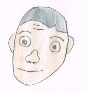 麺ロード花畑の店主の似顔絵