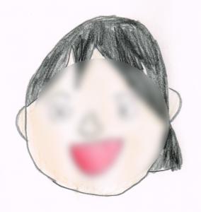 麺ロード花畑のアルバイトA子さんの似顔絵